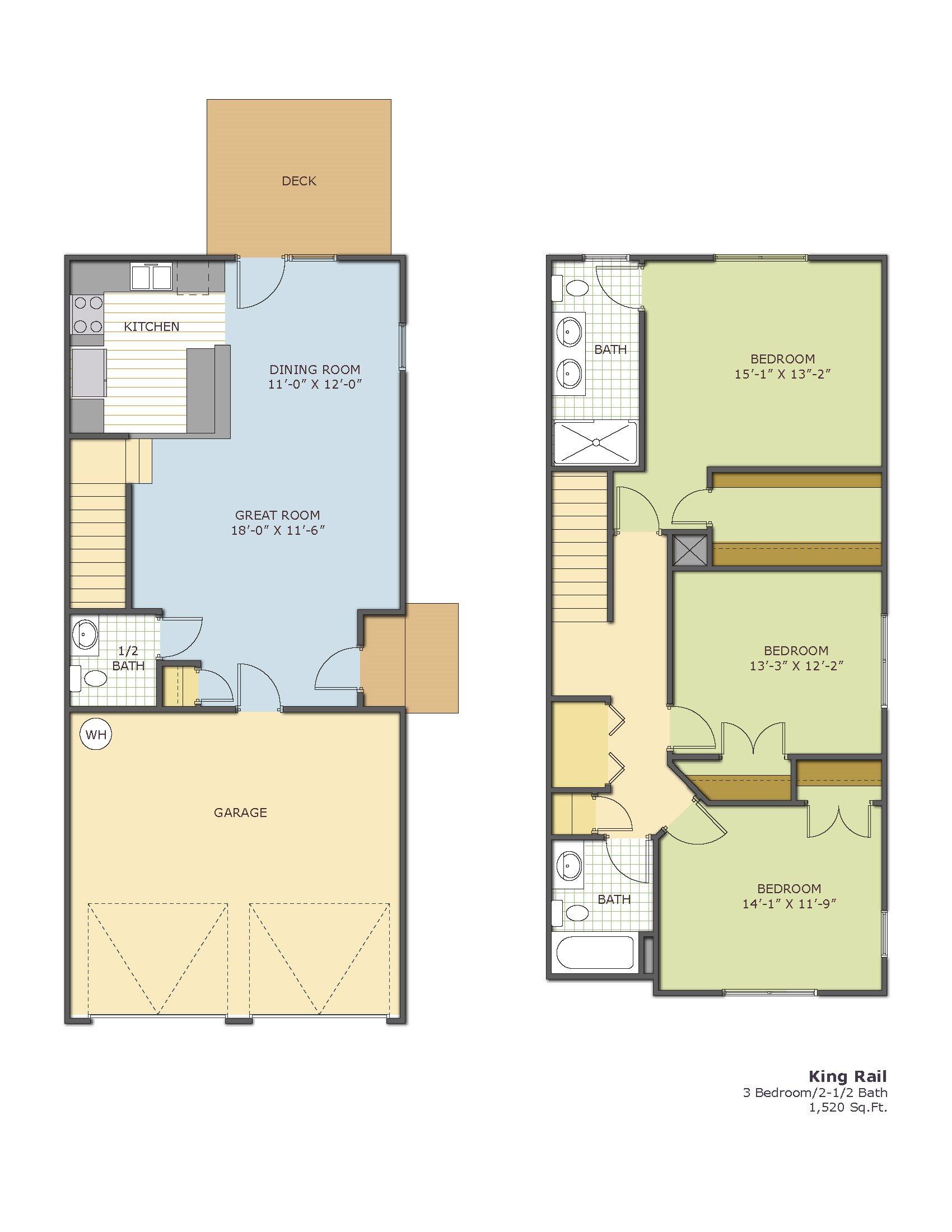 King Rail -Townhouse Floor Plan 8
