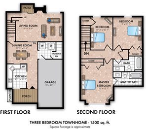 3 Bedroom 2.5 Bath