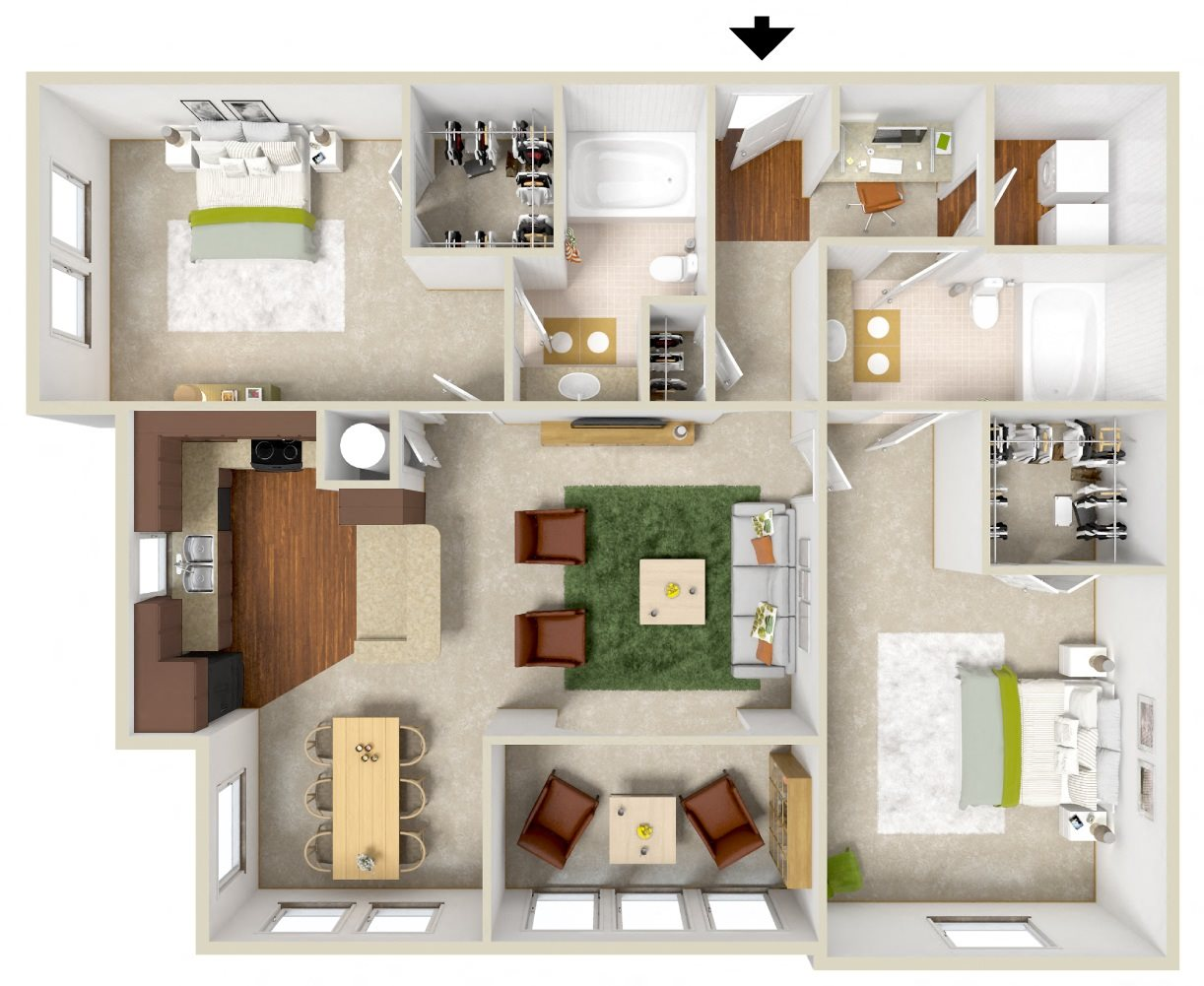 The Broad Floor Plan 4