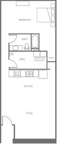 1 Bedroom Apartments in Charlotte