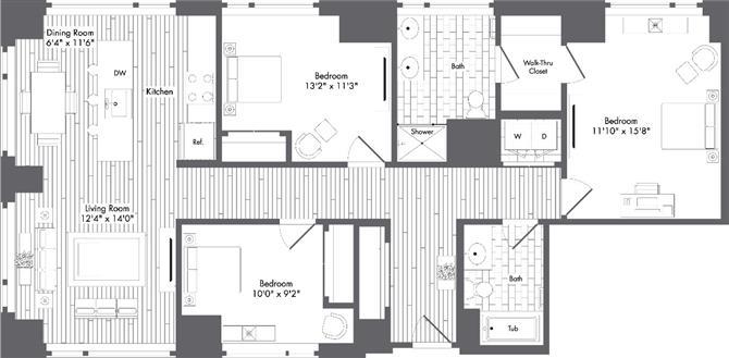 Ma boston watersideplace p0220789 stylea1349sf 2 floorplan