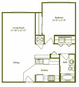 One Bedroom One Bathroom (A1)