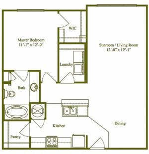 One Bedroom, One Bathroom (A2)