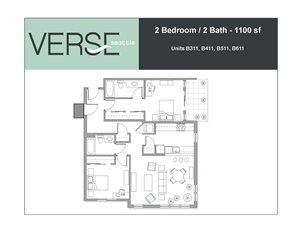 2 Bed, 2 Bath, 1100 sq. ft. 2 Bed 2 Bath Stack 11