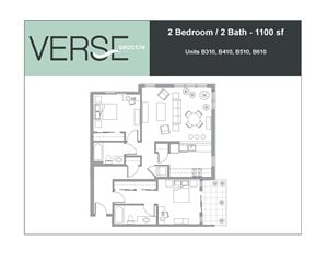 2 Bed, 2 Bath, 1100 sq. ft. 2 Bed 2 Bath Stack 10