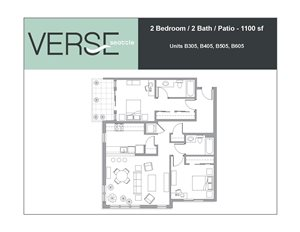 2 Bed, 2 Bath, 1100 sq. ft. 2 Bed 2 Bath With Patio Stack 5