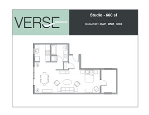 Studio, 660 sq. ft. Stack 1