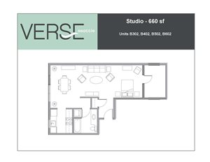 Studio, 660 sq. ft. Studio Stack 2