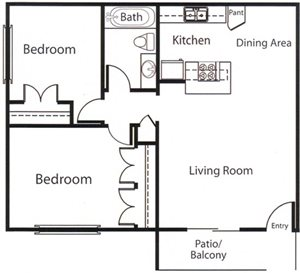 Two Bedroom Apartments likewise 3 Bedroom Penthouse Plans together with Default also Small House Plans in addition Single Story Carriage House Plans. on luxury 2 bedroom flat plans