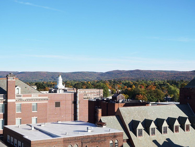 Enjoy the Berkshire scenery from the roof deck