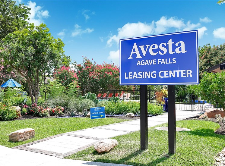 front sign | Avesta Agave Falls Walnut Creek Apartments in Austin, TX
