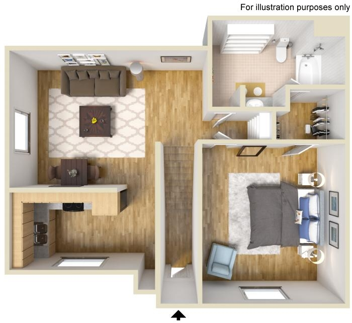 Floor Plan | Avesta Agave Falls Walnut Creek Apartments In Austin, TX