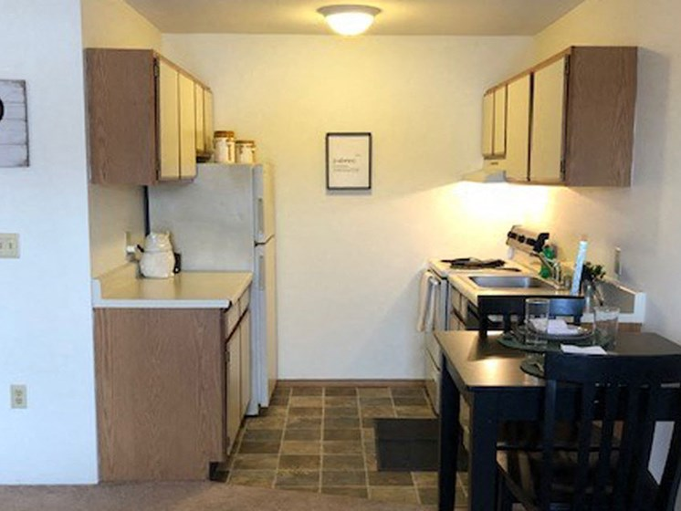 Kitchen at Prairie Landing Apartments in Sharon Wisconsin