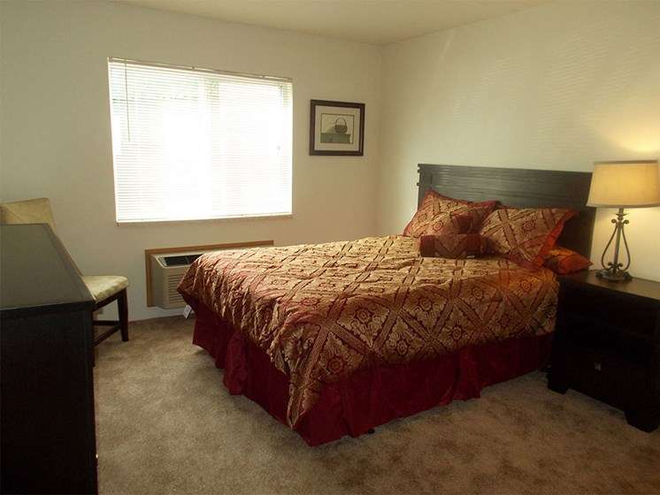 Bedroom at Prairie Landing Apartments in Sharon Wisconsin