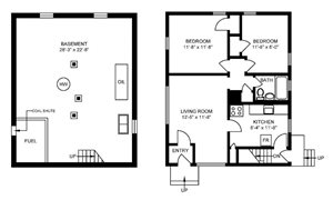 Style A  2 Bedroom House