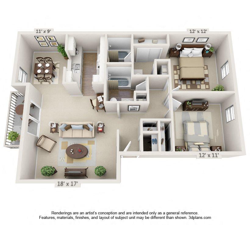 Auburn Glen Apartments: Floor Plans Of Auburn Glen Apartments In Jacksonville, FL