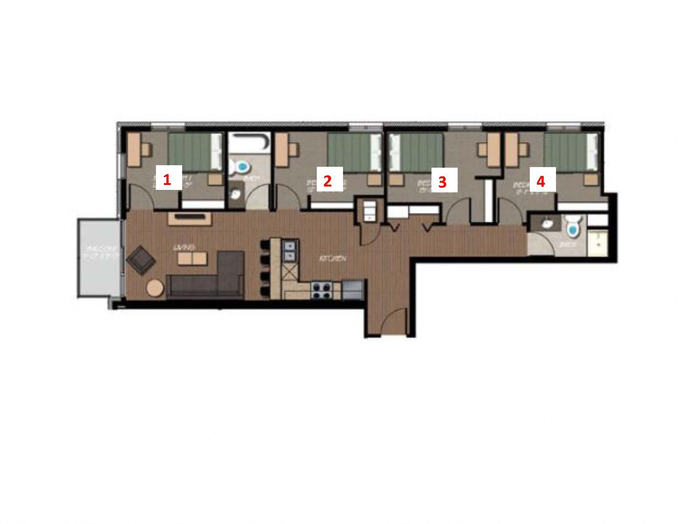 floor plans of 229 lakelawn in madison wi four bedroom ground floor plan 3