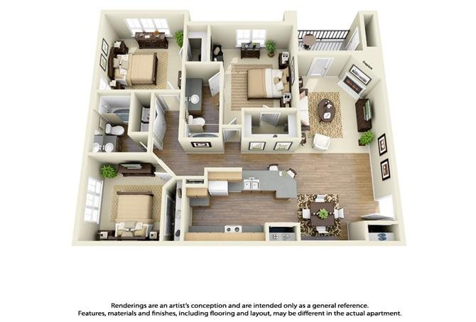 3 Bed 2 Bath Floor Plan 5