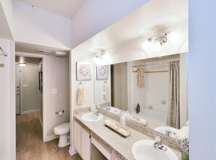 Huge double vanity 2 sinks, For Rent, Montfort Place in North Dallas, TX