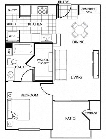 San Miguel  Floor Plans For Apartments