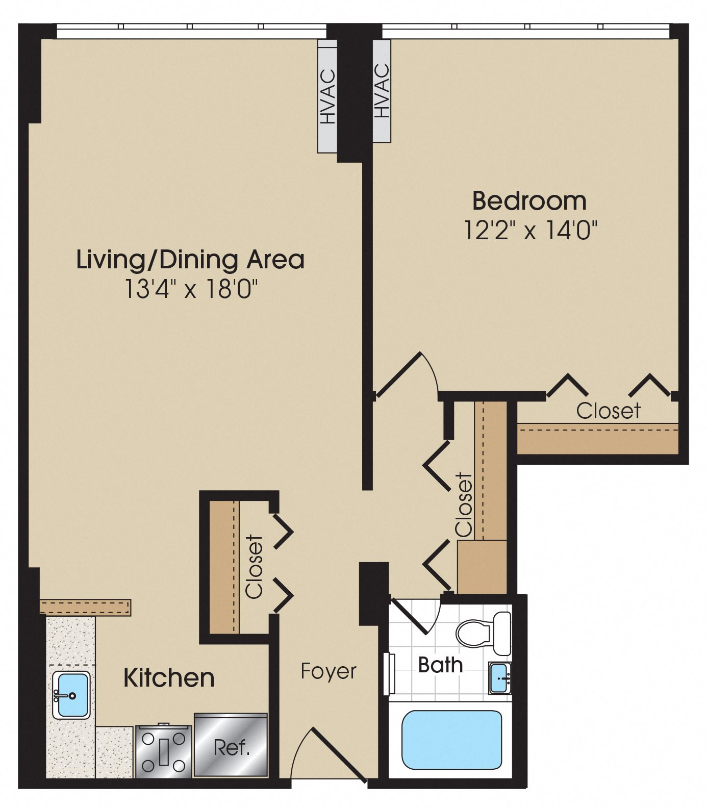 Studio 1 Bedroom Apartments: Studio & 1 Bedroom Apartment