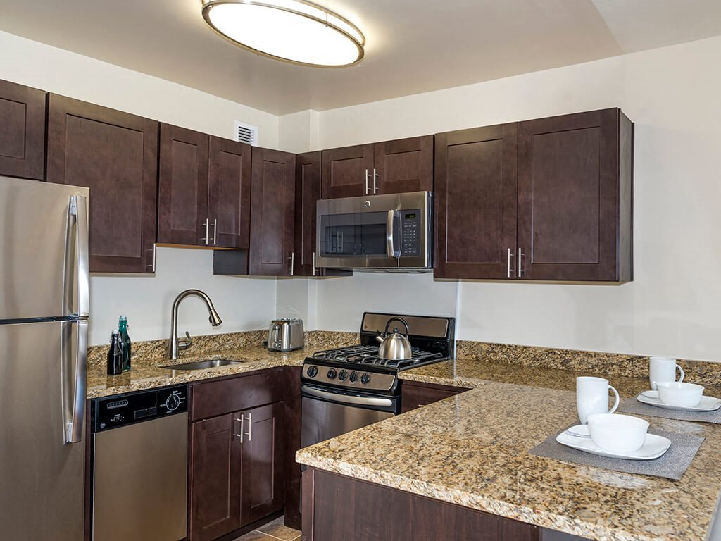 New Countertops and Cabinets at 2400 Pennsylvania Avenue Apartments, Washington, DC,20037