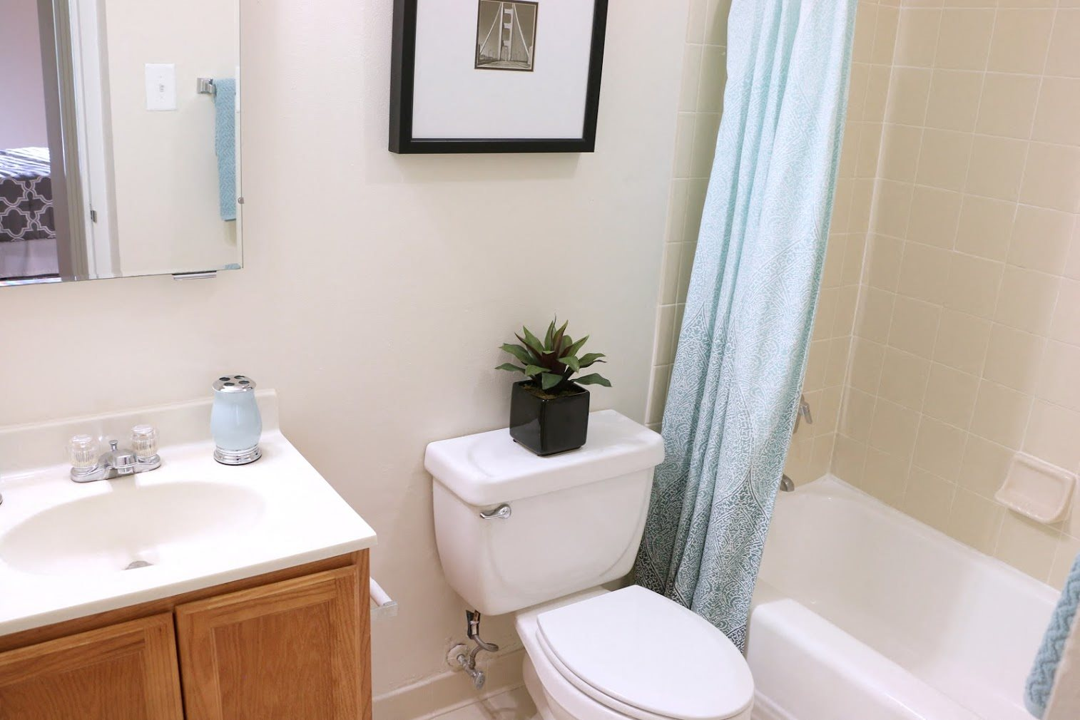 Updated Bathrooms at Calvert House Apartments, Washington DC