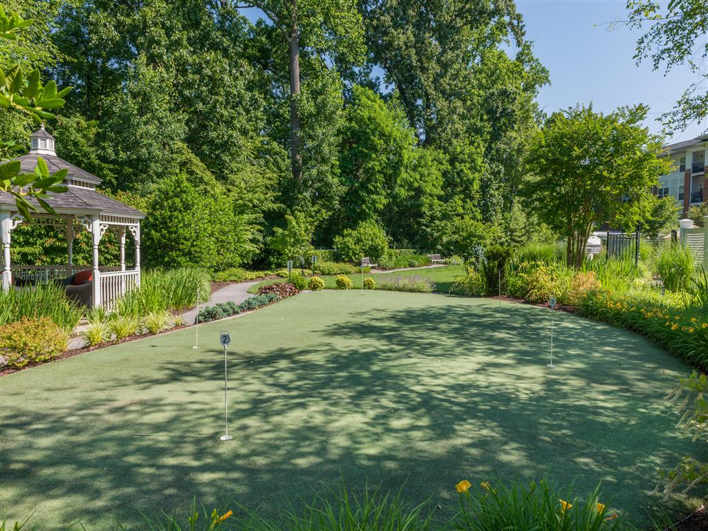Beautifully-Landscaped Grounds at Evergreens at Columbia Town Center, Columbia, MD 21044