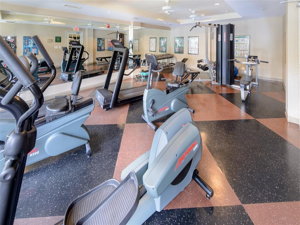 Convenient 24 Hour Fitness Center, Open 7 Days a week,  With State Of The Art Equipment To Reach Your Fitness Goals
