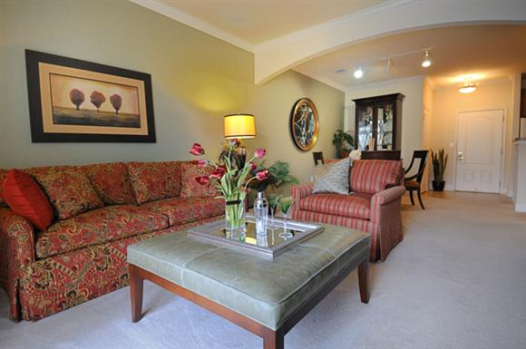Spacious living room at The Marque at Heritage Hunt, Gainesville, VA,20155
