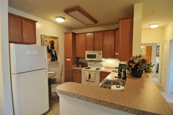 Large Kitchen with appliances at The Marque at Heritage Hunt, Gainesville, VA,20155