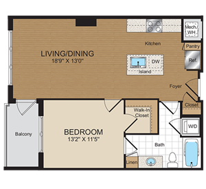 A1 Floorplan at Harrison at Reston Town Center