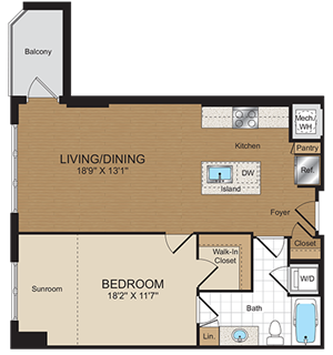 A1a Floorplan at Harrison at Reston Town Center