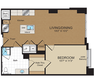 A1b-ANSI Floorplan at Harrison at Reston Town Center