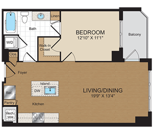 A1c Floorplan at Harrison at Reston Town Center