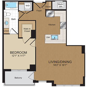A2 Floorplan at Harrison at Reston Town Center