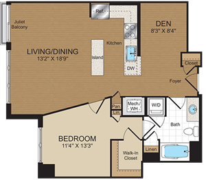 B1 Floorplan at Harrison at Reston Town Center
