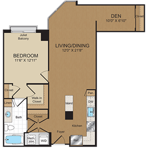 B2 Floorplan at Harrison at Reston Town Center