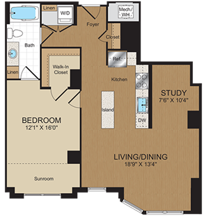 B4 Floorplan at Harrison at Reston Town Center