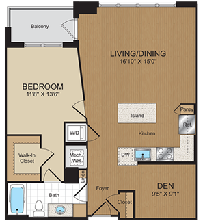 B5 Floorplan at Harrison at Reston Town Center