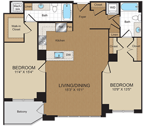 C1 Floorplan at Harrison at Reston Town Center