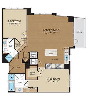 C2 Floorplan at Harrison at Reston Town Center