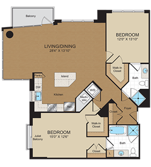 C3 Floorplan at Harrison at Reston Town Center