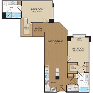 C5PH Floorplan at Harrison at Reston Town Center