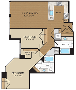 C8 Floorplan at Harrison at Reston Town Center