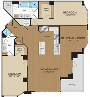 D1A Floorplan at Harrison at Reston Town Center