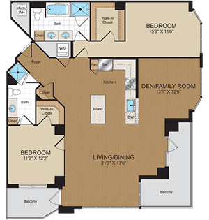 D1B Floorplan at Harrison at Reston Town Center