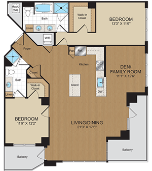D1PH Floorplan at Harrison at Reston Town Center