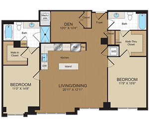D3 Floorplan at Harrison at Reston Town Center