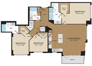 E3 Floorplan at Harrison at Reston Town Center